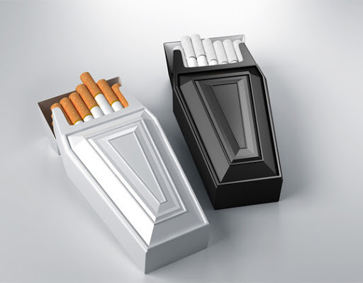 Coffin-shaped Cigarette Case